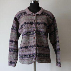Grandma Wool Cardigan Sweater